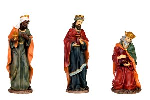 The three wise men and baby Jesus