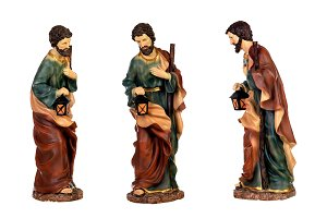Three figures of Saint Joseph of the
