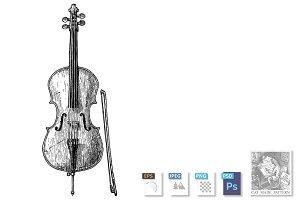 illustration of Cello