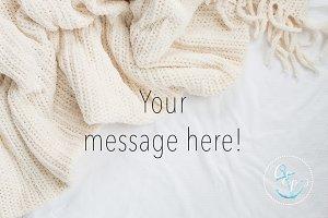 Blanket Photo, Cozy Styled Stock