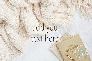 cozy blanket styled stock photo
