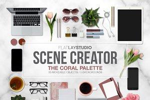 MOCKUP SCENE CREATOR - CORAL PALETTE