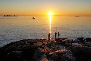 Uruguay, Scenic sunset over Rio De L