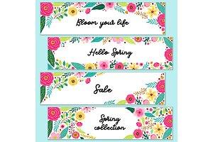 Cute set of Spring Flowers