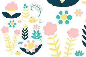 Plant Pack Chalkboard Pattern