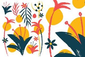 Plant Pack Pattern Chalk