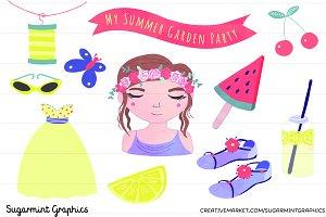 Summer Clip Art Garden Party Melon
