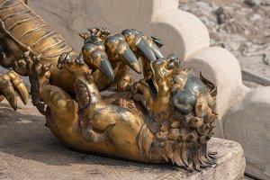 Details of Lion statue in Forbidden