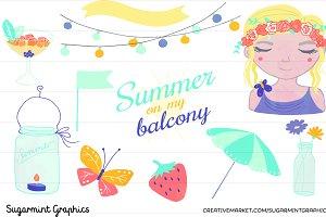 Summer Clipart Garden Party Jar