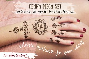 Henna vector hand- draw collection