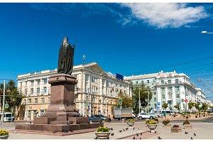 Statue of Saint Dimitry of Rostov on