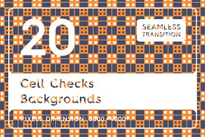 20 Cell Checks Backgrounds