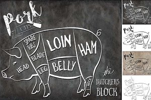 Pork Butcher Cuts Set 1
