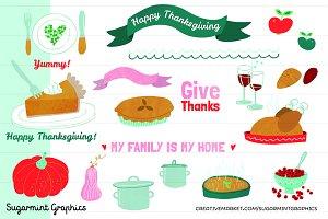 Thanksgiving Clip Art Turkey Cute