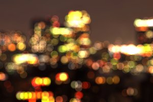New York City out of focus bokeh at