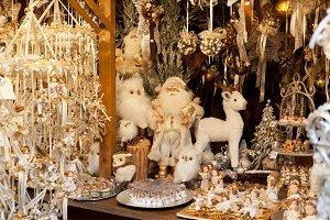 Christmas ornaments and Christmas ba