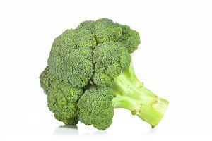 Raw Broccoli isolated on white backg