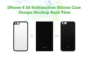 iPhone 6 2d Silicon Case Mock-up