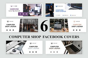 Computer Shop Facebook Covers - SK