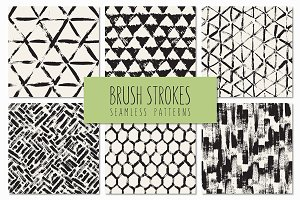 Brush Strokes. Seamless Patterns v.5