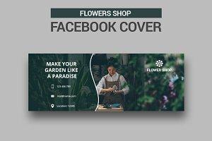 Flowers Shop Facebook Cover - SK