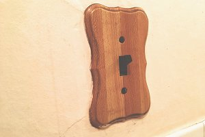 Weird Wood Light Switch