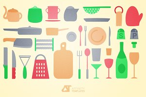 Kitchen tools - vector set