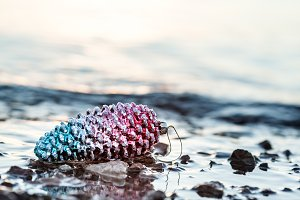 Holiday Background With Pine Cone