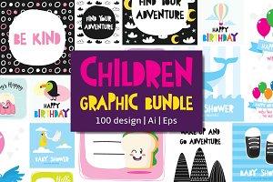 100 Children Graphic Bundle