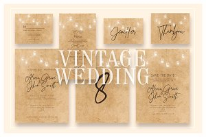 Vintage Wedding Invitation Ac.41