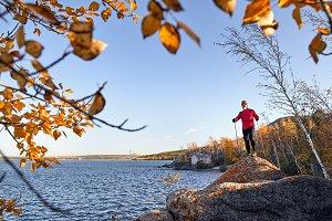 Runner on the lake