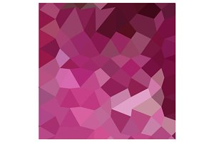 French Rose Pink Abstract Low Polygo