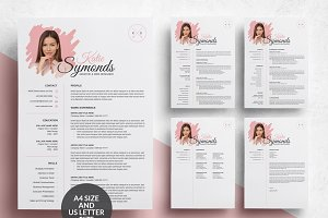 4 Pages Resume Template/CV