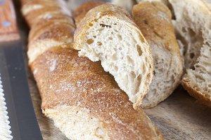 fresh crisp bread