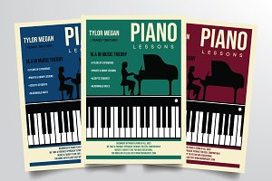 Piano Course Flyer Template