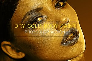 Dry Gold Body Paint-Photoshop Action