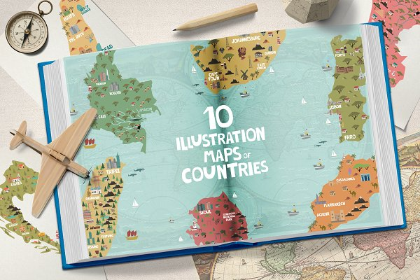 Illustrations and Illustration Products: Mio Buono - Illustration maps // part 4