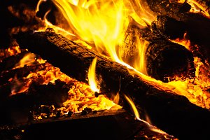 Recycled Wood in Fire