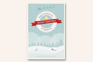 Cute Christmas and New Year Card V02