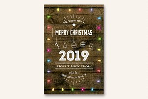 Cute Christmas and New Year Card V03