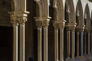 Columns an archs of a cloister