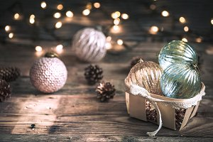 Christmas or New Year background