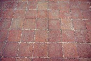 red brick floor tiles background