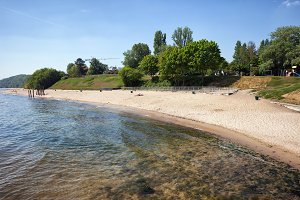 Beach in Gdynia Orlowo