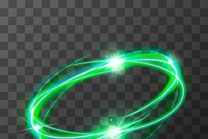 Neon blurry swirl, green magic light