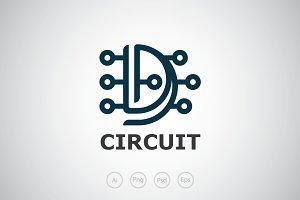 Letter D Digital Logo Template