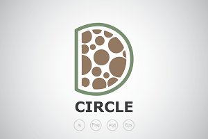 Letter D Circle Logo Template