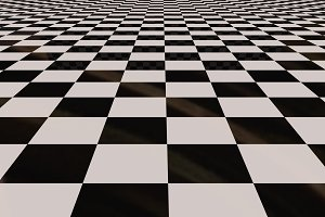 Chess tiles floor