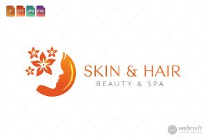 Beauty Dermatology Logo Template 9