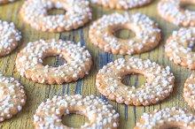 Cookies with coconut sprinkles